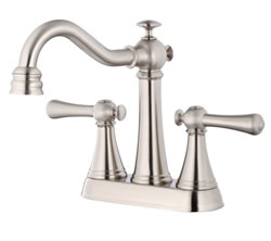 Danze D301026BN - Cape Anne Two Handle Cenerset , Lever Handle - Tumbled Bronzeushed Nickel