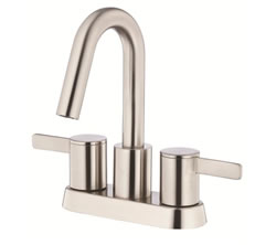 Danze D301030BN - Amalfi Two Handle Centerset Lavatory Faucet with touchdown drain - Tumbled Bronzeushed Nickel