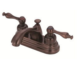 Danze D301055RB - Sheridan Two Handle Centerset Lever Handle MPU - Oil Rubbed Bronze