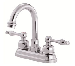 Danze D301255 - Sheridan Two Handle Centerset Hi Rise Spout Lever Handle MPU - Polished Chrome