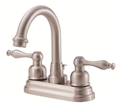 Danze D301255BN - Sheridan Two Handle Centerset Hi Rise Spout Lever Handle MPU - Tumbled Bronzeushed Nickel