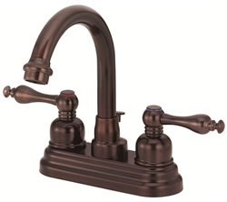 Danze D301255RB - Sheridan Two Handle Centerset Hi Rise Spout Lever Handle MPU - Oil Rubbed Bronze