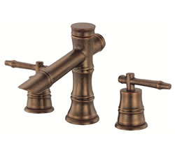 Danze D303045RBD - South Sea Two Handle Mini-Widespread Lever Handle with Touch Down Drain - Oil Rubbed BronzeD