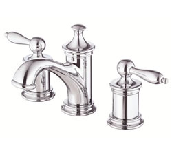 Danze D304010 - Prince Two Handle Widespread Lavatory Faucet with Touch Down Drain - Polished Chrome