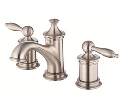 Danze D304010BN - Prince Two Handle Widespread Lavatory Faucet with Touch Down Drain - Tumbled Bronzeushed Nickel
