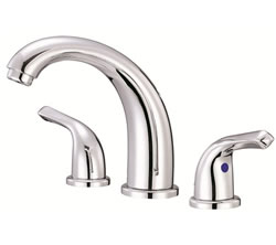 Danze D304012 - Melrose Two Handle Widespread Lever Handle with Touch Down Drain - Polished Chrome