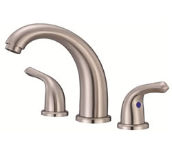 Danze D304012BN - Melrose Two Handle Widespread Lever Handle with Touch Down Drain - Tumbled Bronzeushed Nickel
