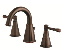 Danze D304015BR - Eastham Two Handle Widespread Lavatory Faucet , with 5050 popup drain - Tumbled Bronze