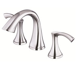 Danze D304022 - Antioch Two Handle Widespread Lavatory Faucet, with Touch Down Drain - Polished Chrome