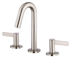 Danze D304030BN - Amalfi Two Handle Mini-Widespread Lavatory Faucet with Touch Down Drain - Tumbled Bronzeushed Nickel