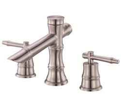 Danze D304045BN - South Sea Two Handle Widespread Lever Handle with Touch Down Drain - Tumbled Bronzeushed Nickel