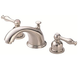 Danze D304055BN - Sheridan Two Handle Widespread Lever Handle MPU - Tumbled Bronzeushed Nickel