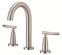 Danze D304554BN - Sonora Two Handle Mini-Widespread Trimline Lever Handle with Touch Down Drain - Tumbled Bronzeushed Nickel