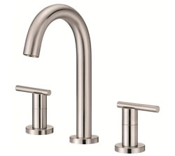 Danze D304558BN - Parma Two Handle Widespread Trimline Lever Handle with Touch Down Drain - Tumbled Bronzeushed Nickel