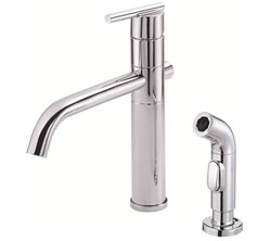 Danze D405558 - Parma Single Handle Kit Lever Handle with Spray - Polished Chrome