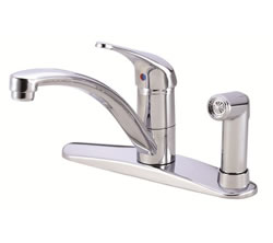 Danze D405612 - Melrose Single Handle Kit Hi Rise Spout Lever Handle with Spray, with Dispenser - Polished Chrome