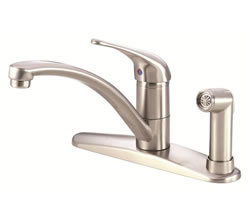 Danze D405612SS - Melrose Single Handle Kit Hi Rise Spout Lever Handle with Spray, with Dispenser - Stainless Steel
