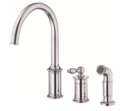 Danze D409010 - Prince Single Handle Kit, , hirise spout, with spray - Polished Chrome