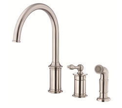 Danze D409010SS - Prince Single Handle Kit, , hirise spout, with spray - Stainless Steel