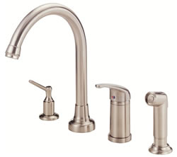 Danze D409012SS - Melrose Single Handle Kit Hi Rise Spout Lever Handle with Spray, with Dispenser - Stainless Steel