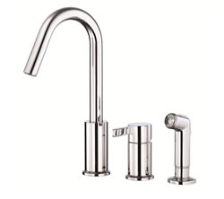 Danze D409030 - Amalfi Single Handle Kit, hirise spout, with spray - Polished Chrome