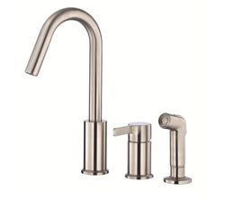 Danze D409030SS - Amalfi Single Handle Kit, hirise spout, with spray - Stainless Steel