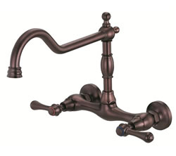 Danze D416057RB - Opulence Two Handle Bridge Kit Wall Mount Lever Handle - Oil Rubbed Bronze
