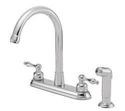 Danze D422055 - Sheridan Two Handle Kit Hi Rise Spout Lever Handle with Spray - Polished Chrome