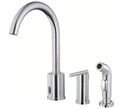Danze D423058 - Parma Single Handle E-Kit Dual Control Lever Handle with Spray - Polished Chrome