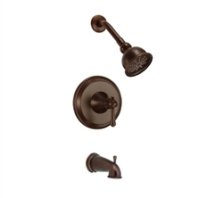 Danze D500026BRT - Cape Anne Single Handle TRIM Tub & Shower , Lever Handle - Tumbled Bronze
