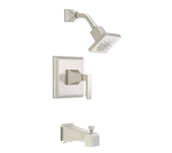Danze D500036BNT - Logan Square Single Handle TRIM Tub & Shower , Lever Handle - Tumbled Bronzeushed Nickel