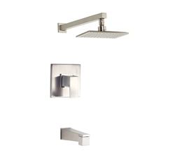 Danze D500062BNT - Mid-Town Single Handle TRIM Tub & Shower , Lever Handle - Tumbled Bronzeushed Nickel