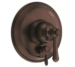 Danze D500457RBT - Opulence Single Handle Pressure Balance Mixing Valve Only with Diverter TRIM Kit Lever Handle - Oil Rubbed Bronze