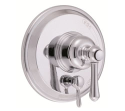 Danze D500457T - Opulence Single Handle Pressure Balance Mixing Valve Only with Diverter TRIM Kit Lever Handle - Polished Chrome