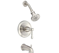 Danze D501015BNT - Eastham Single Handle TRIM Tub/shwr, diverter Spout, 1.75gpm showerhead - Tumbled Bronzeushed Nickel