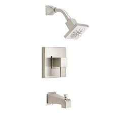 Danze D502033BNT - Reef Single Handle Tub & Shower trim Lever Handle w stop, 2.0gpm showerhead - Tumbled Bronzeushed Nickel