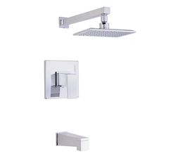 Danze D502062T - Mid-Town Single Handle TRIM Tub & Shower , Lever Handle, 2.0gpm - Polished Chrome