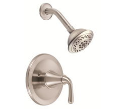 Danze D502556BNT - Bannockburn Single Handle TRIM Shower Only, Lever Handle, 2.0gpm showerhead - Tumbled Bronzeushed Nickel