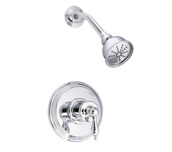 Danze D511510T - Prince Single Handle Trim Shower, Pressure Balance Mixing, 1.75gpm showerhead - Polished Chrome