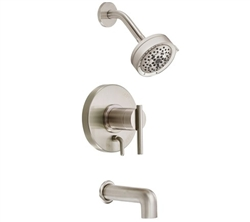 Danze D512058BNT - Parma Single Handle TRIM Tub & Shower Lever Handle, 2.0gpm showerhead - Tumbled Bronzeushed Nickel