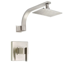 Danze D512544BNT - Sirius Single Handle TRIM Shower Only Lever Handle, 2.0gpm showerhead - Tumbled Bronzeushed Nickel