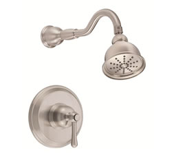 Danze D512557BNT - Opulence Single Handle TRIM Shower Only Lever Handle, 2.0gpm showerhead - Tumbled Bronzeushed Nickel