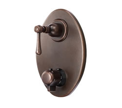 Danze D560157BRT - Opulence Two Handle TRIM 1/2-inch Thermostatic Valve Lever Handle - Tumbled Bronze