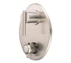 Danze D560158BNT - Parma Two Handle TRIM 1/2-inch Thermostatic Valve Lever Handle - Tumbled Bronzeushed Nickel