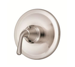 Danze D562056BNT - Bannockburn Single Handle TRIM 3/4-inch Thermostatic Shower Valve, Lever Handle - Tumbled Bronzeushed Nickel