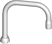 Chicago Faucets DB6AE35JKABCP - 6 1/4 -inch RIGID / SWING DOUBLE-BEND SPOUT