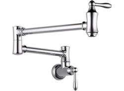 Delta 1177LF - Traditional Wall Mounted Pot Filler Faucet, Polished Chrome