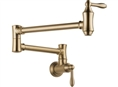 Delta 1177LF-CZ - Traditional Wall Mounted Pot Filler Faucet, Champagne Bronze™