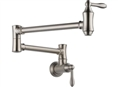 Delta 1177LF-SS - Traditional Wall Mounted Pot Filler Faucet, Stainless