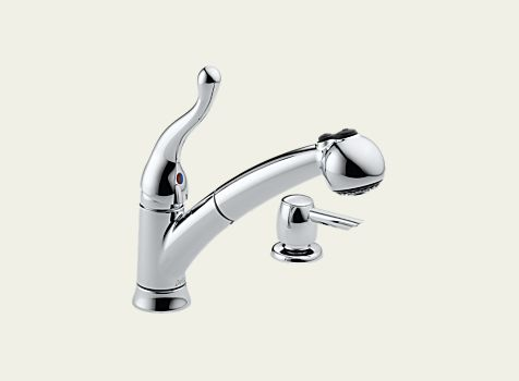 Delta Talbott Single Handle Pull Out Kitchen Faucet With